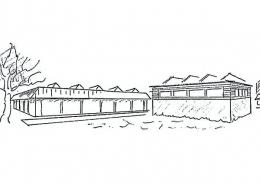 Einfeldhalle Frickenhausen Ansicht