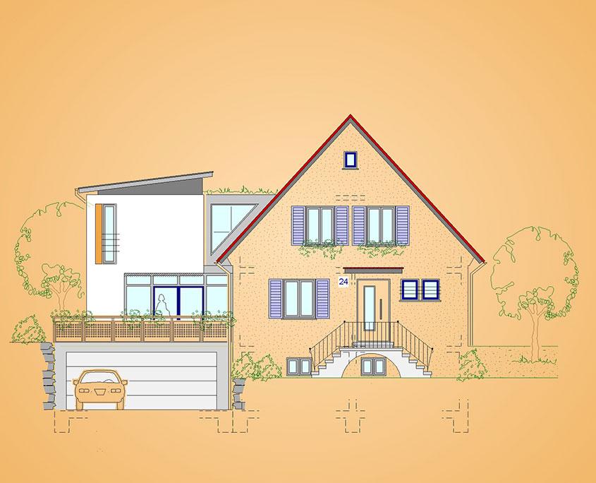 Anbau Einfamilienhaus Neuffen