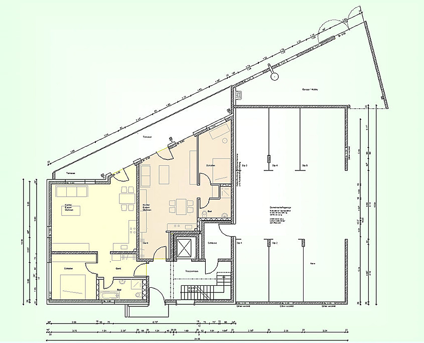 Mehrfamilienhaus Frickenhausen Grundriss