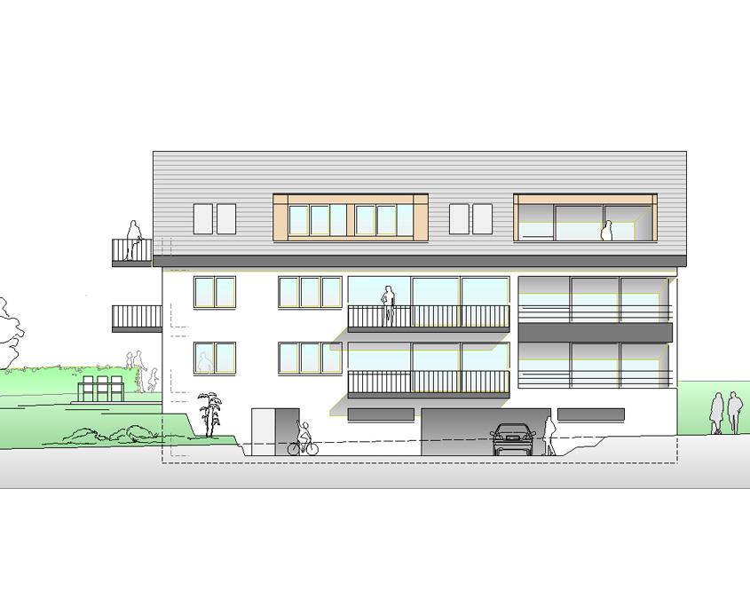 Mehrfamilienhaus Grafenberg Ansicht