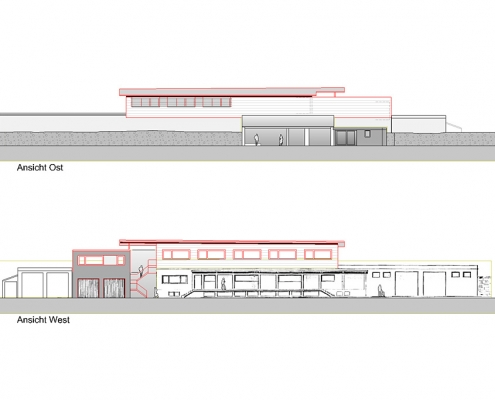 Erweiterung Betriebsgebäude Owen Ansichten