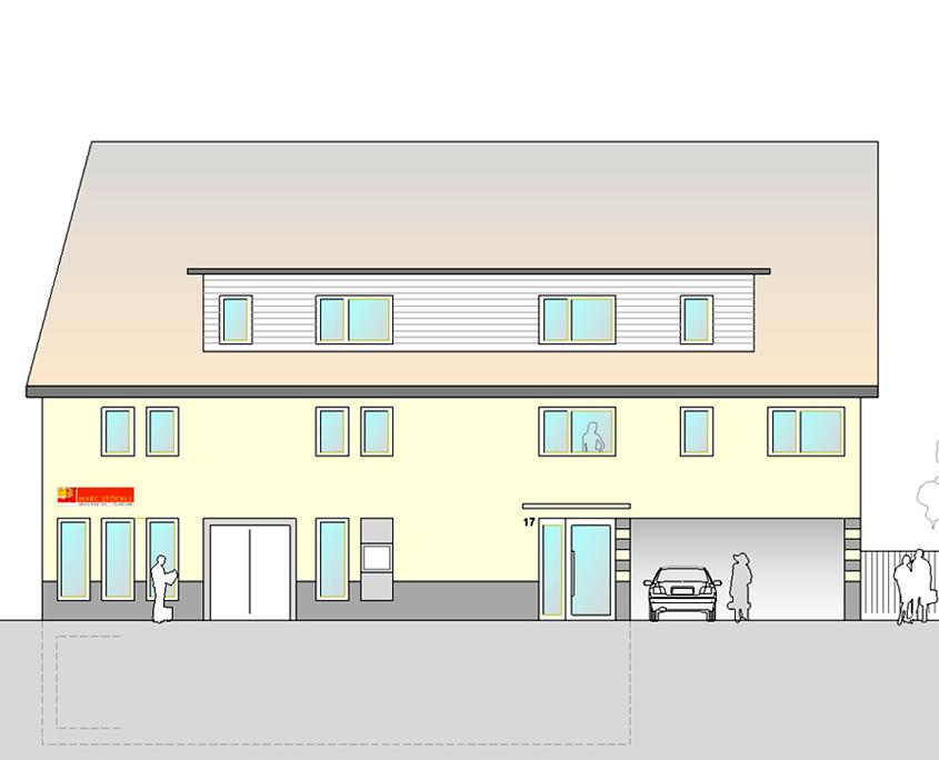 Wohn- und Geschäftshaus Oberboihingen Ansicht A