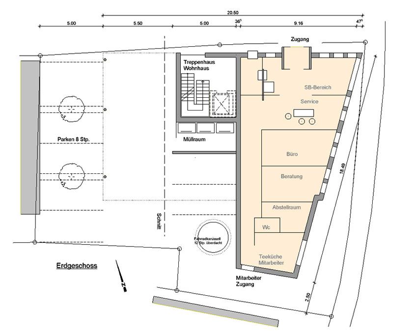 Wohn- und Geschäftshaus Oberboihingen Grundriss